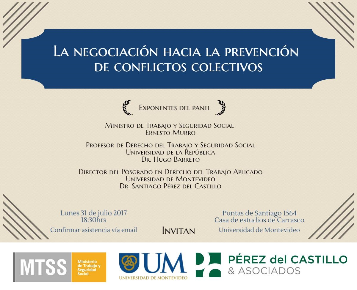 Seminario: La Negociación hacia la Prevención de Conflictos Colectivos