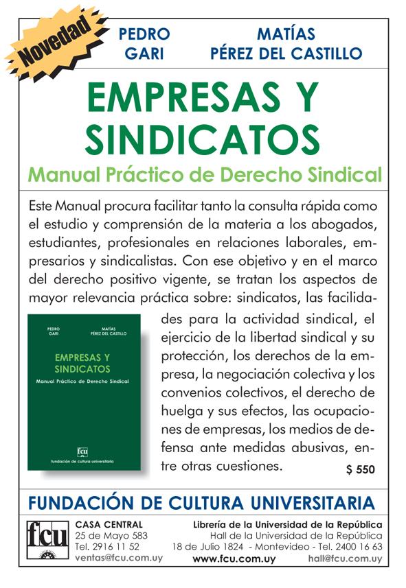 EMPRESAS Y SINDICATOS: Manual Práctico de Derecho Sindical