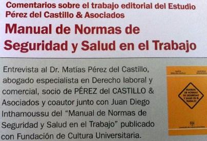 Seguridad laboral, entrevista a Matías Pérez del Castillo